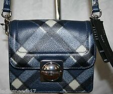 MARC JACOBS CROSSBODY MESSENGER SKIPPER BLUE ITALIAN LEATHER M0004416