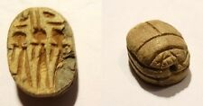 SCARABEE EN STEATITE EGYPT 664/332 BC - EGYPTIAN CARVED SCARAB WITH HIEROGLYPH