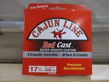 Cajun Red Cast fishing line 17 lb test 300 yards red NIP