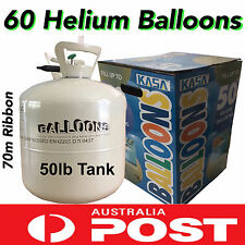 NEW 60 JUMBO HELIUM BALLOONS TANK PARTY KIT BALLOON TIME 50LB GAS TANK BOTTLE