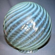 "Antique Vintage 8"" OPALESCENT SWIRL GLASS BALL GLOBE CEILING LIGHT Shade Lamp"