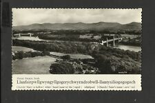 Valentine Vintage real Photo Postcard General View Menai Straits  unposted