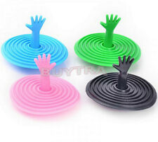Kitchen Hand Shape Sink Plug Water Rubber Sink  Bathtub Stopper Plugs Stop