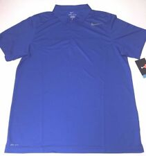 NIKE N.E.T. CLASSIC RACCHETTA SPORT POLO IN BLU ROYAL-ADULTO MEDIUM