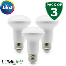 3 High Output R63 LED 6W E27 Reflector Light Bulb Cool white 40w 45w Replacement