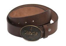 Marlboro Classics Cintura in pelle per uomo con fibbia metallica logata di color