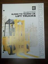 Caterpillar Lift Truck Brochure~Electric Towmotor Catalog~M60/M70/M80/M100