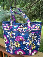VERA BRADLEY Vera Large Tote Bag Toggle Tote XL Bag Purse African Violet