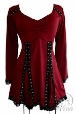 ELECTRA Garnet Red Gothic Victorian Corset Top Size 5X, 28