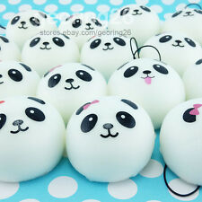 5x Kawaii Panda Soft Cute Squishy Bread Cellphone Straps 4cm Bun Charms