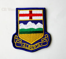 QUALITY EMBROIDERED CANADIAN ALBERTA FLAG EMBLEM PATCH 3.5 INCHES