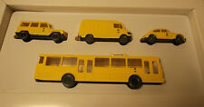 4 x Wiking H0 Set Vehículos de correos Post Museo Tienda Publicidad correo 1991