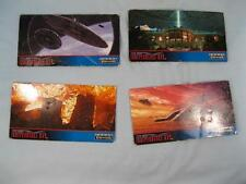 4 Independence Day Film Paper Widevision Trading Cards 1996 Topps Company (O)