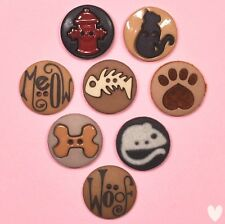 DRESS IT UP Buttons Raining Cats & Dogs 593 - Embellishments