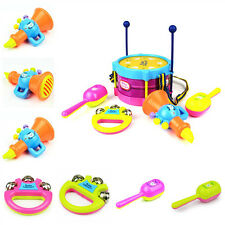 New 5Pcs Baby Boy Girl Drum Set Musical Instruments Kids Drum Set Children Toy