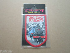 Zig Zag Railway Lithgow N.S.W. Nu Color Vue Woven Cloth Patch Badge