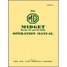 MG Midget Series TF & TF1500 Operation Manual book paper