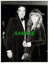PRESS PHOTO ACTOR RICHARD JOHNSON ELIZABETH DUTTON PREMIERE SPRING & PORT WINE