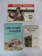 Lot of 3 GERMAN INFANTRY / COMBAT UNIFORMS & STRASSEN PANZER SCOUT CARS