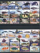 Fishes Fische Whales Dolphins Sharks Marine Fauna 45 MNH stamps Tchad