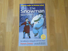 The SNOWMAN based on Raymond Briggs Story 2003 PEACOCK Theatre Original Poster