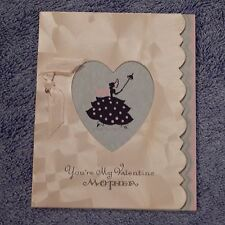 Vintage Valentine's Day Card, Unmarked Art Deco You're My Valentine MOTHER