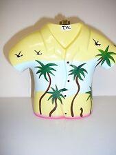 Timmy Woods Beverly Hills Wood Palm Tree Shirt Original Art Piece Handmade New