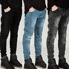 Fashion Mens Designed Straight Slim Fit Biker Jeans Pants Denim Trousers Classic