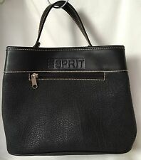 ESPRIT Small Black Tote Faux Leather