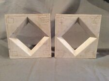 Pair Antique Marble Fireplace Mantle Brackets/Rosettes
