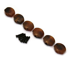 (6) Tortoise Buttons for Gotoh Mini Sealed Guitar Tuners TK-7728-043