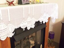 New White Lace Christmas Ornament Design Mantel Scarf