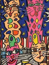 "James Rizzi: Original 3D ""KITTY COCKTAIL"", handsigniert, 1994 - Rarität"