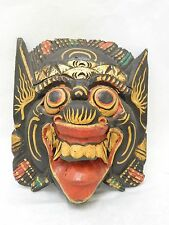 Wooden Barong Mask Hand Carved Wood Bali Wall Decor Art #N1477