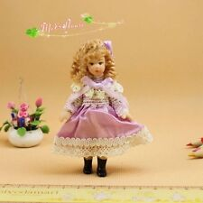 1/12 dollhouse porcelain doll cute dress up girl