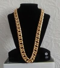"24"" Gold Plated Aluminum Chunky Chain Necklace Boyfriend Christmas Birthday Gift"