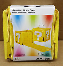 (pa2)Nintendo Wii U 3DS Amiibo Super Mario Question Block Carry Storage Bag Case