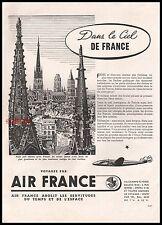 Publicité AIR FRANCE Aviation Cie Aerienne Airlines  vintage ad 1953 - 2j