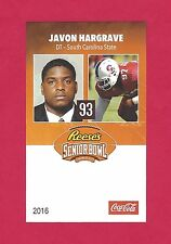 JAVON HARGRAVE 2016 SENIOR BOWL SOUTH CAROLINA STATE BULLDOG PITTSBURGH STEELERS
