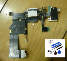 White Audio Jack Charging Port Dock Flex Cable Replacement + Tool For iPhone 5S