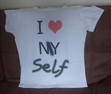 I love Myself Stencil Girl's T-Shirt White Large