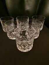 Vintage  Lismore Pattern Waterford Crystal  Signed Old Fashioned Glasses