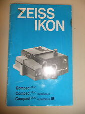 Instructions slide projector ZEISS IKON Compact duo autofocus & IR - CD/EMail