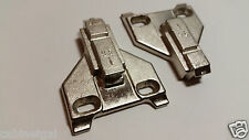 """PAIR of BLUM 3mm PLATES (9.5) 175L6030.21, for 5/8"""" overlay, center mount, used"""