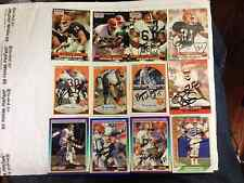 12 Different Cleveland Browns autographed FB Cards inc. Gash,Metcalf; 1990-91