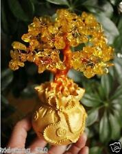 AAA+++ Lucky tree!!! Natural pretty citrine yellow crystal gem tree 300g