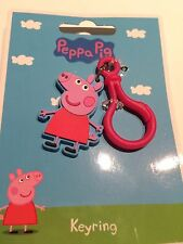 BNIP New Peppa Pig Rubber Collectible Keyring - Peppa