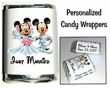 120 DISNEY MICKEY AND MINNIE MOUSE WEDDING CANDY WRAPPERS FAVORS personalized