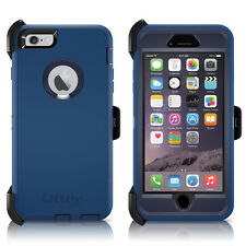 "OtterBox Defender iPhone 6/6S PLUS 5.5"" Case & Holster Ink Blue OEM Original"