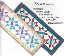 Odd Fellow's Star Table Runners paper pieced quilt pattern by Cindi Edgerton